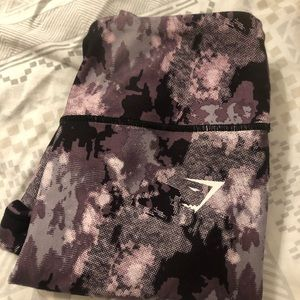 Purple Camo GYMSHARK Leggings
